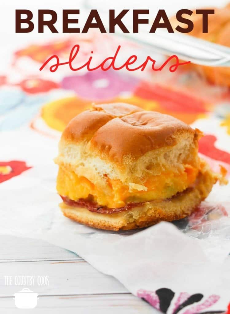 Breakfast Sliders recipe from The Country Cook