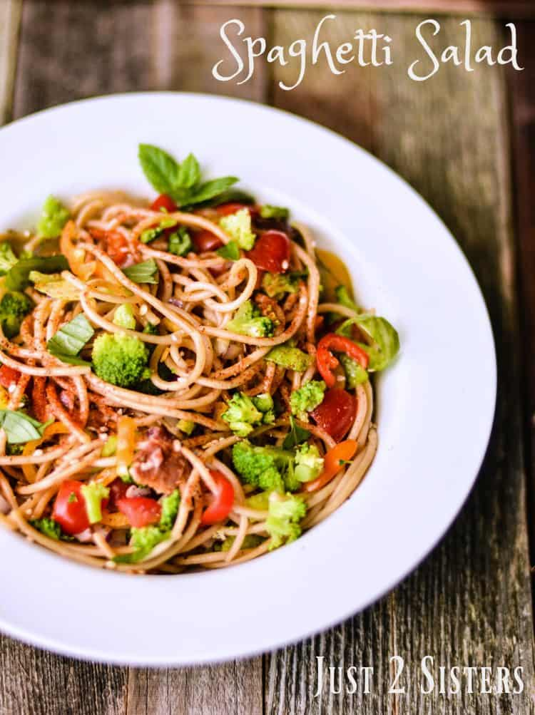 Spaghetti Salad is a great way to turn leftover spaghetti into a planned meal.
