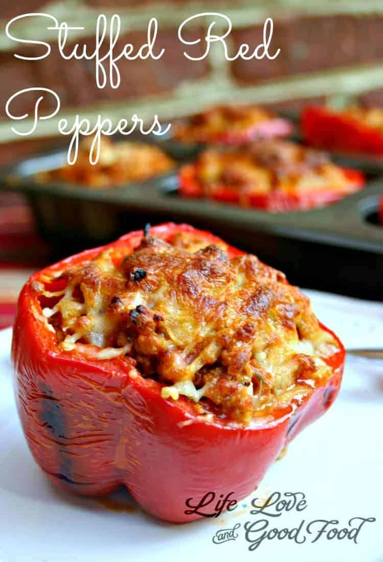 Stuffed Red Peppers - Life, Love, and Good Food