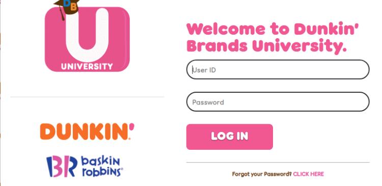 Dunkin Brands University Login