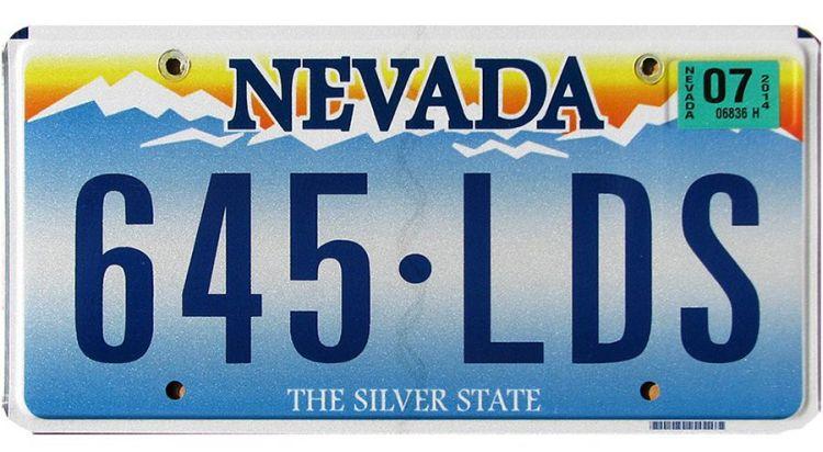 Nummerbord uit Nevada