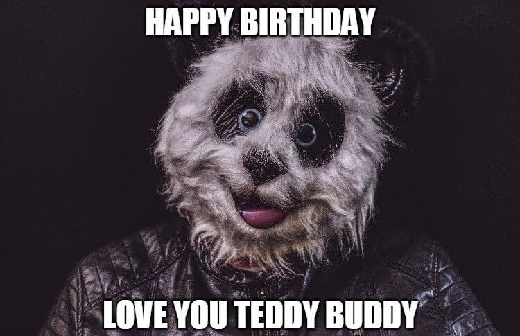 teddy birthday meme