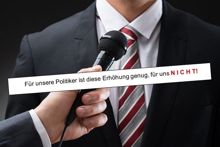 Politiker 2 Euro nicht genug