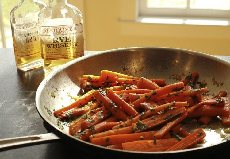 Maple glazed carrots by Runamok Maple