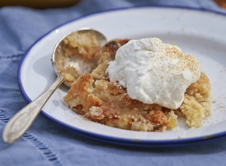 Maple Apple Crisp with whipped cream