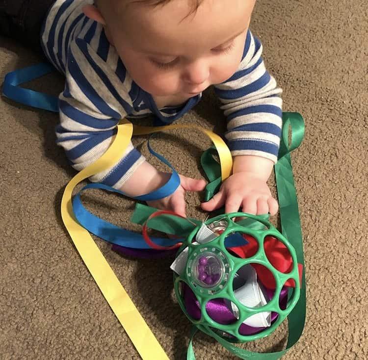 sensory play at home baby