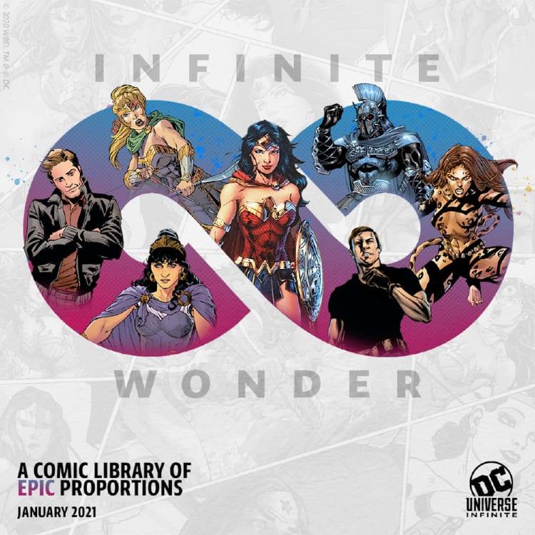 DC Universe Infinite Relaunch, Wonder Woman, Future State, Infinite Frontier, Batman, Superman, Comixology, Marvel Unlimited, HBOMax