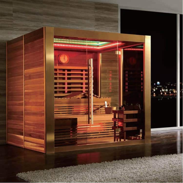 An example of infrared sauna