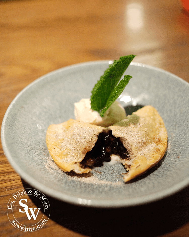 A hot Mince Pie empanada at Wahaca this Christmas