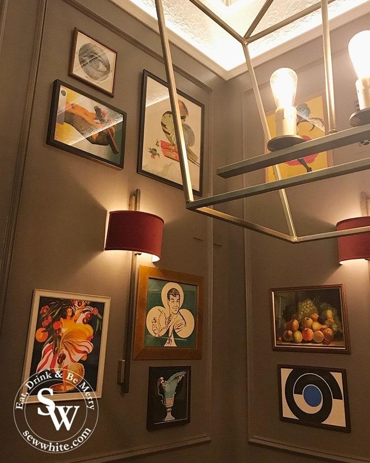 Art work on the wall of the dining room at The Park Teddington