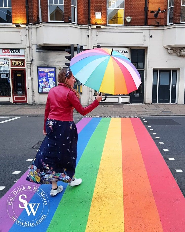 Most Instagrammable places in Wimbledon 2019 has to feature the Pride crossing on Wimbledon Broadway by The New Wimbledon theatre. The Rainbow crossing is a great support of the LGBTQ+ community.