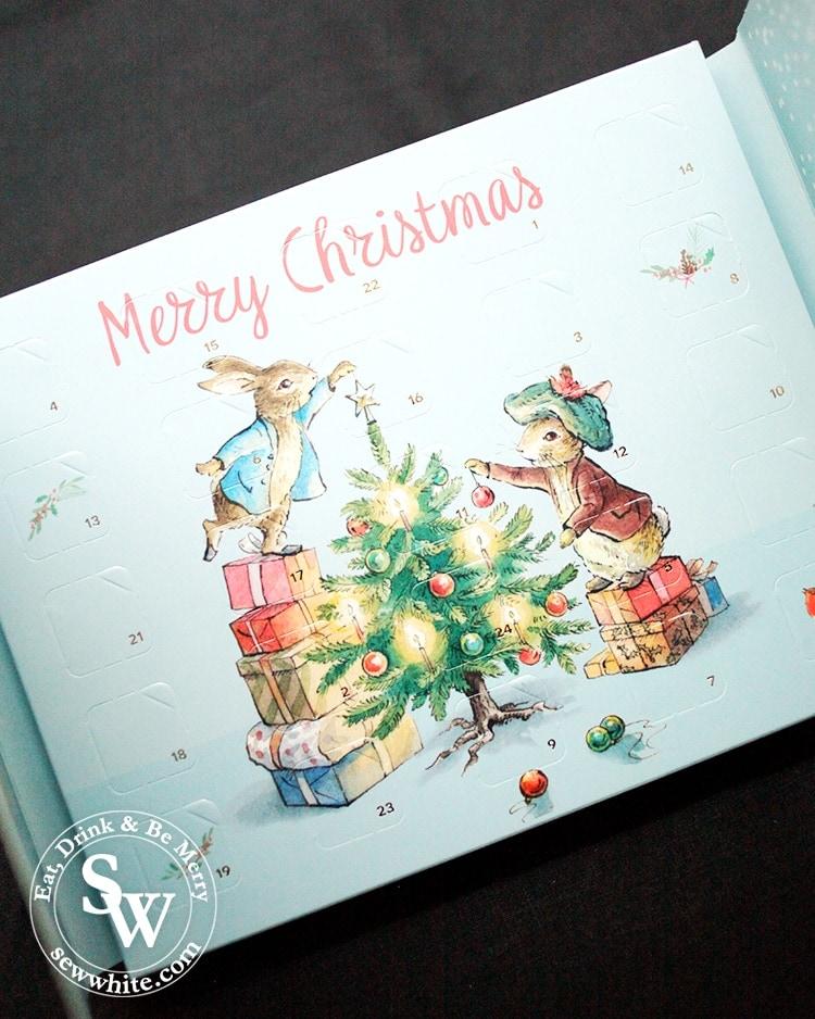 5 advent calendars for Christmas featuring the Beatrix potter advent calendar by charbonnel et walker