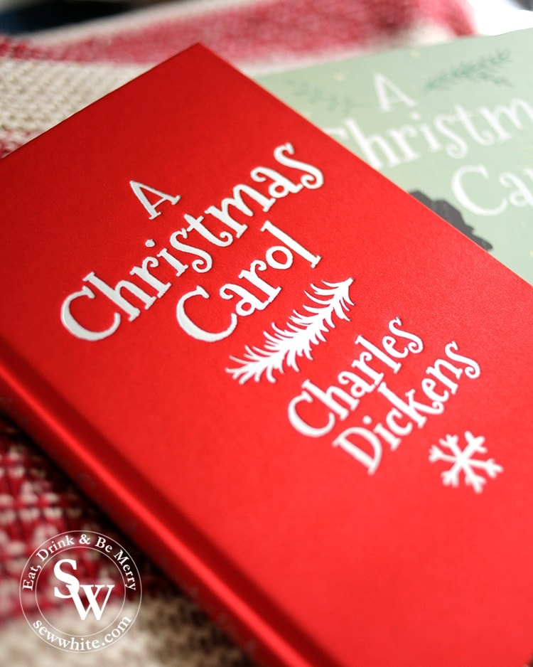 Red book of a A Christmas Carol by Charles Dickens for the top 5 Books for Christmas 2019