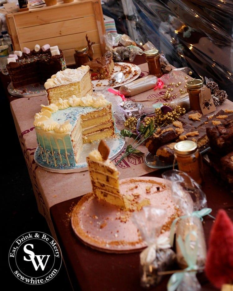 Zay Bakes at Wimbledon Winter Wonderland with beautiful cakes and bakes
