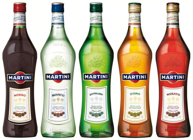 Разные виды мартини