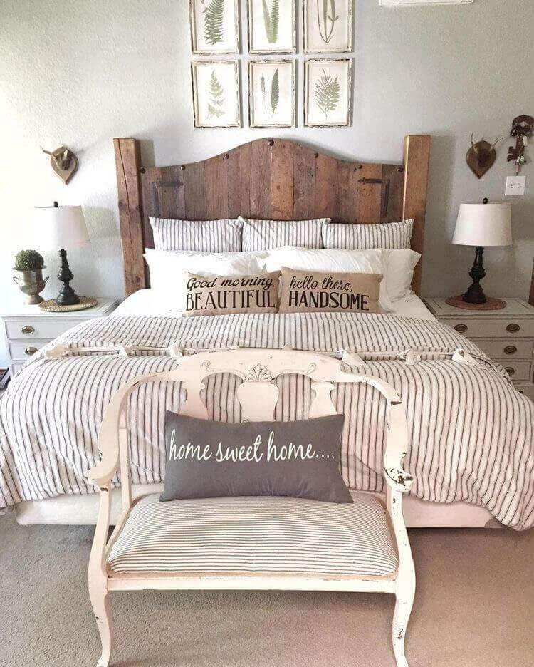 french country farmhouse bedroom