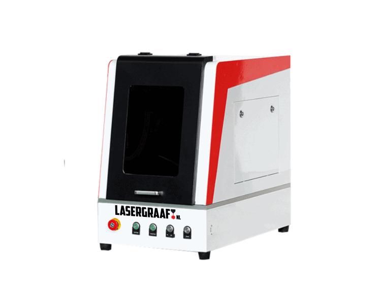 """metaal-laser-gesloten, fiber-lasers-metaal-laser, metaal-laser, maak-machines, mopa-fiber, budget-fiberlaser-snijmachines - MOPA fiber desktop laser """"Lana"""""""