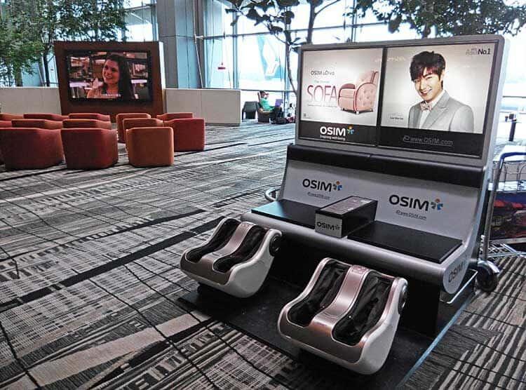 Free Massage at Changi Airport