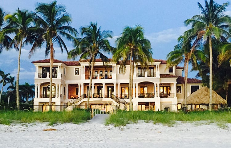 Olde Naples beachfront homes