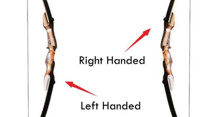 Left handed vs right handed bow