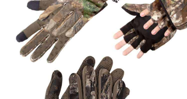 3 pairs of bowhunting gloves