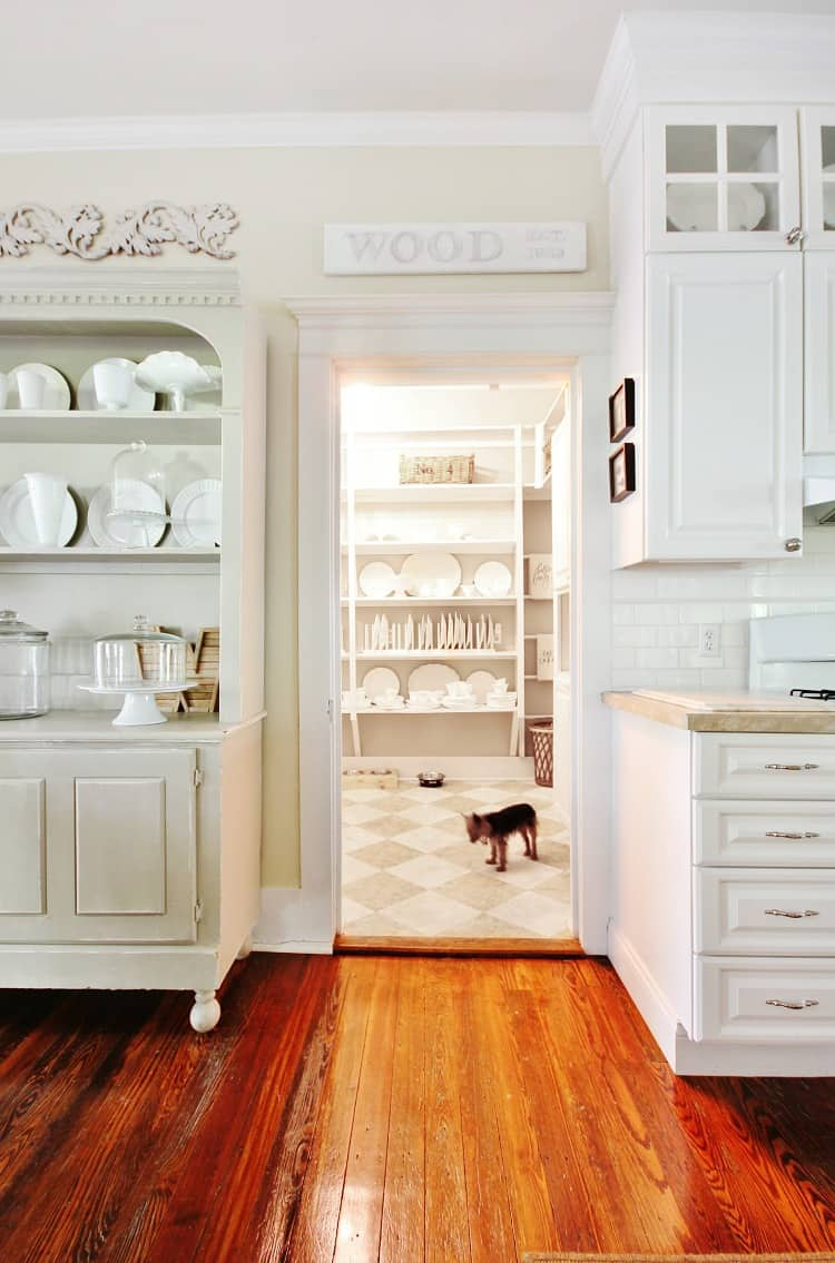 This farmhouse style kitchen is clean and elegant.