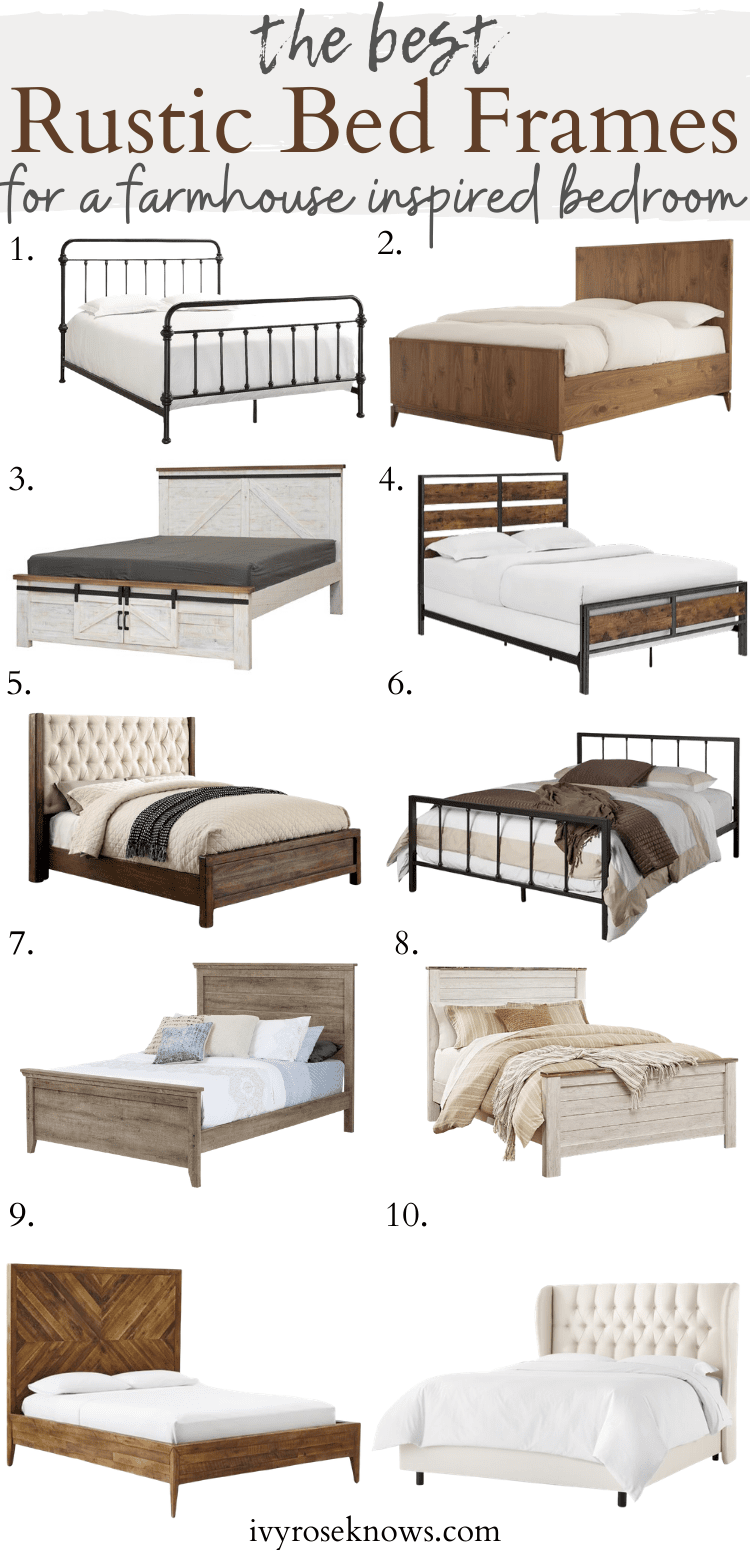 the best rustic bed frames for a farmhouse inspired bedroom