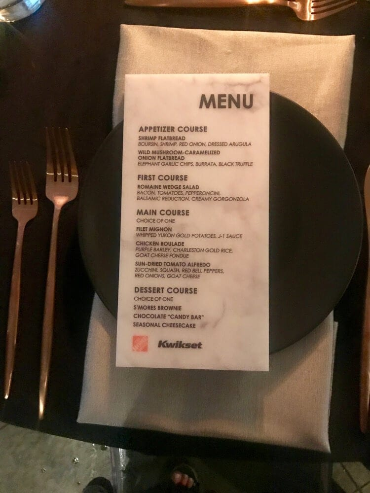 A peek at the Home Depot dinner at the 2017 Haven Conference for DIY & home decor bloggers