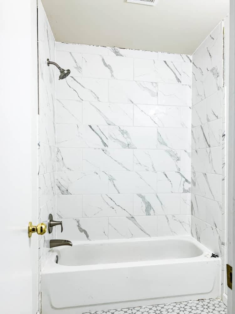 shower with Pfister Jaida collection