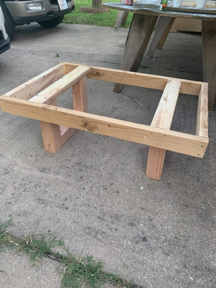 frame for diy outdoor coffee table