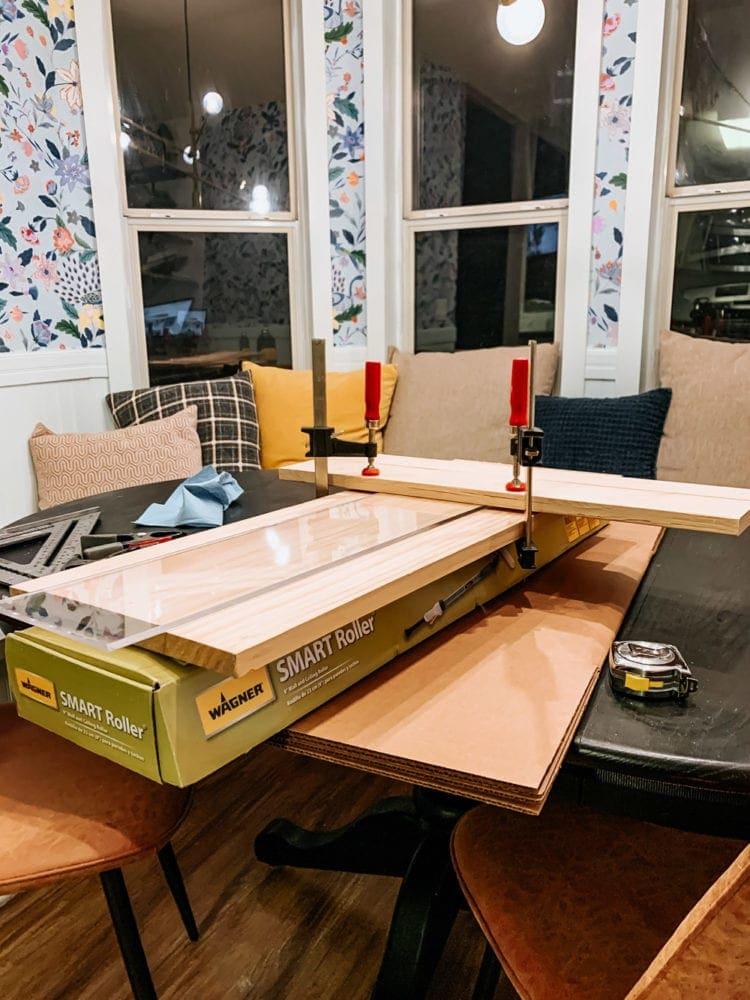 Set up for DIY acrylic lap tray