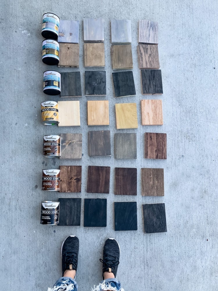 all samples for stain test