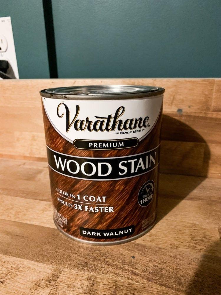 Varathane dark walnut stain