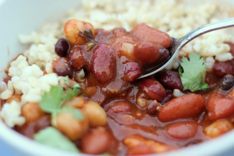 Slow Cooker Chicken Chili is great for an easy weeknight meal.
