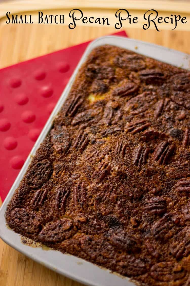 Small Batch Cooking Pecan Pie Recipe