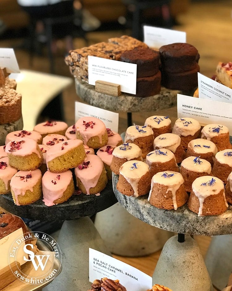 Most Instagrammable places in Wimbledon 2019 food has to include the cute little mouth size cakes from Gails.
