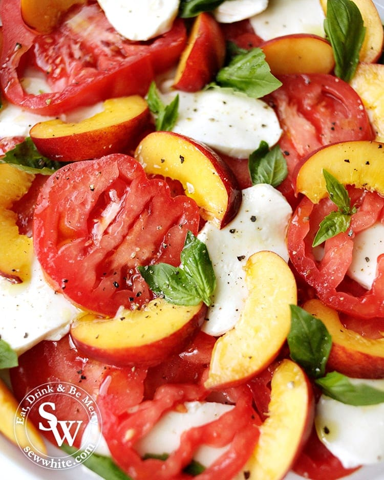 Fresh summer salads made with heirloom tomatoes from the Isle of Wight tomatoes