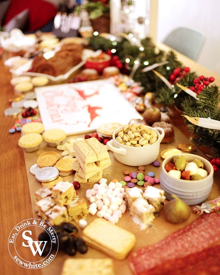 sweet treats and nibbles on the Christmas graze table
