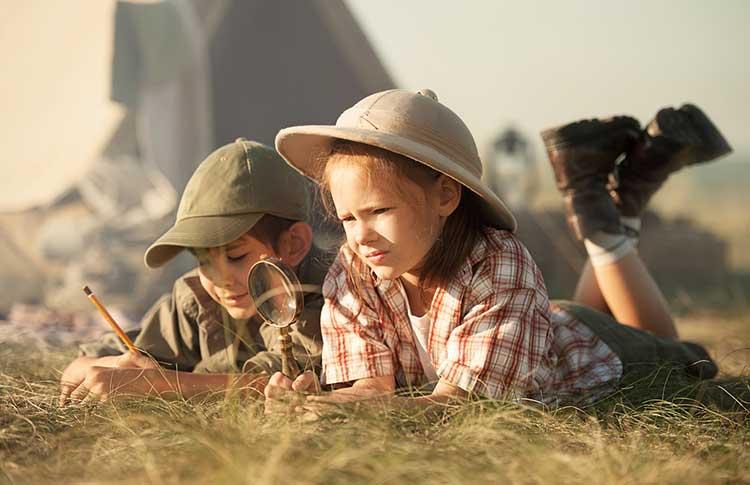 Kids conversing