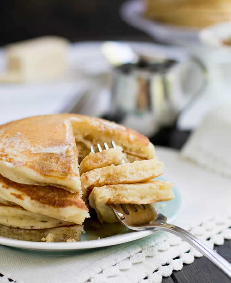 Fluffy Buttermilk Pancakes. It's easy to make classic fluffy buttermilk pancakes from scratch. This recipe makes a great base for other flavors and add ins.