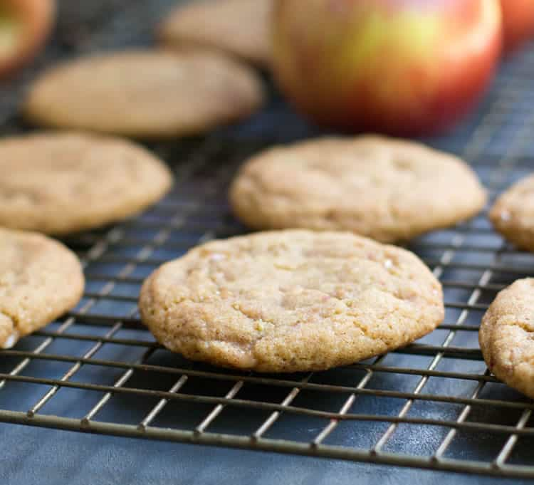 Chewy Toffee Apple Cookies. A secret ingredient gives this cookie its delicious apple flavor. It's reminiscent of apple crumb pie but in chewy cookie form!