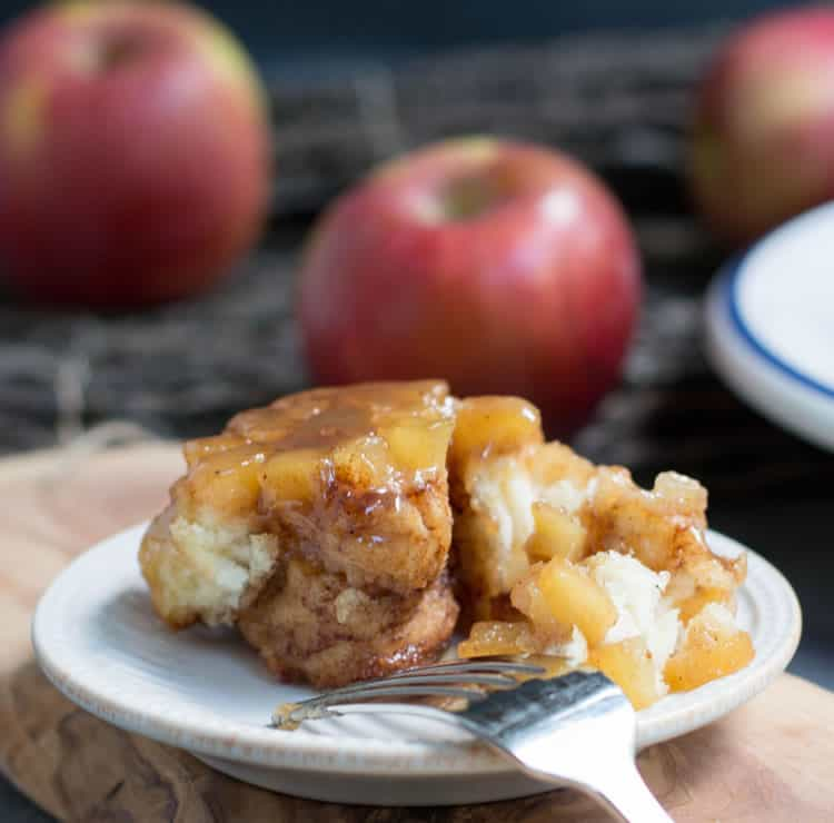 Upside Down Caramel Apple Spice Rolls. Tender, no yeast, no rise apple spice rolls baked on top of a juicy caramel apple pie layer. Perfect fall breakfast!