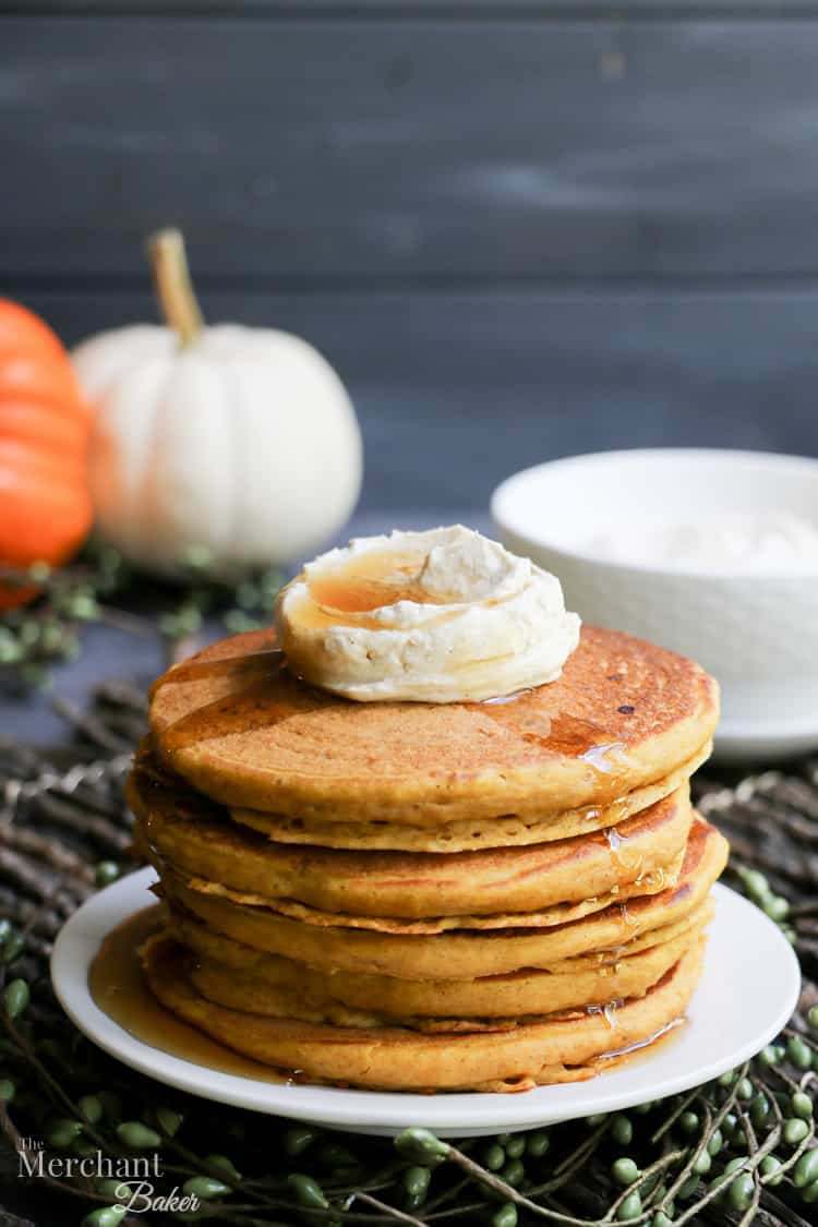 Fluffy Buttermilk Pumpkin Pancakes. Perfectly fluffy, tender pancakes full of pumpkin and pumpkin spices. Make a big batch and freeze for quick breakfasts!