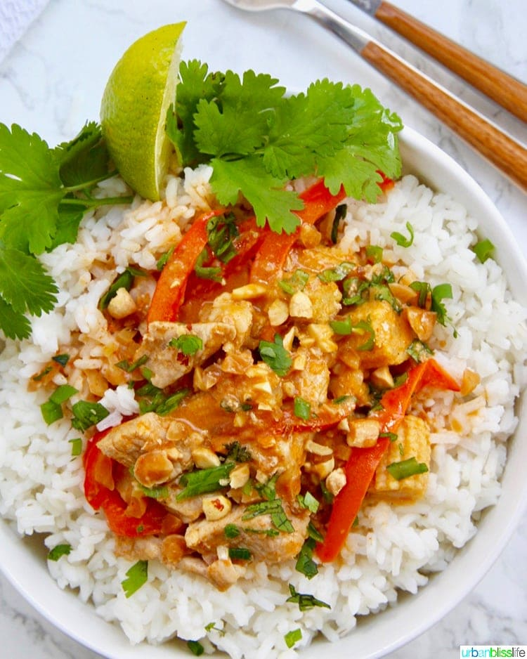 Thai Peanut Curry asian dinner