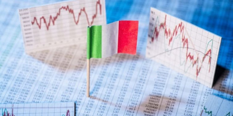 Italy debt flag