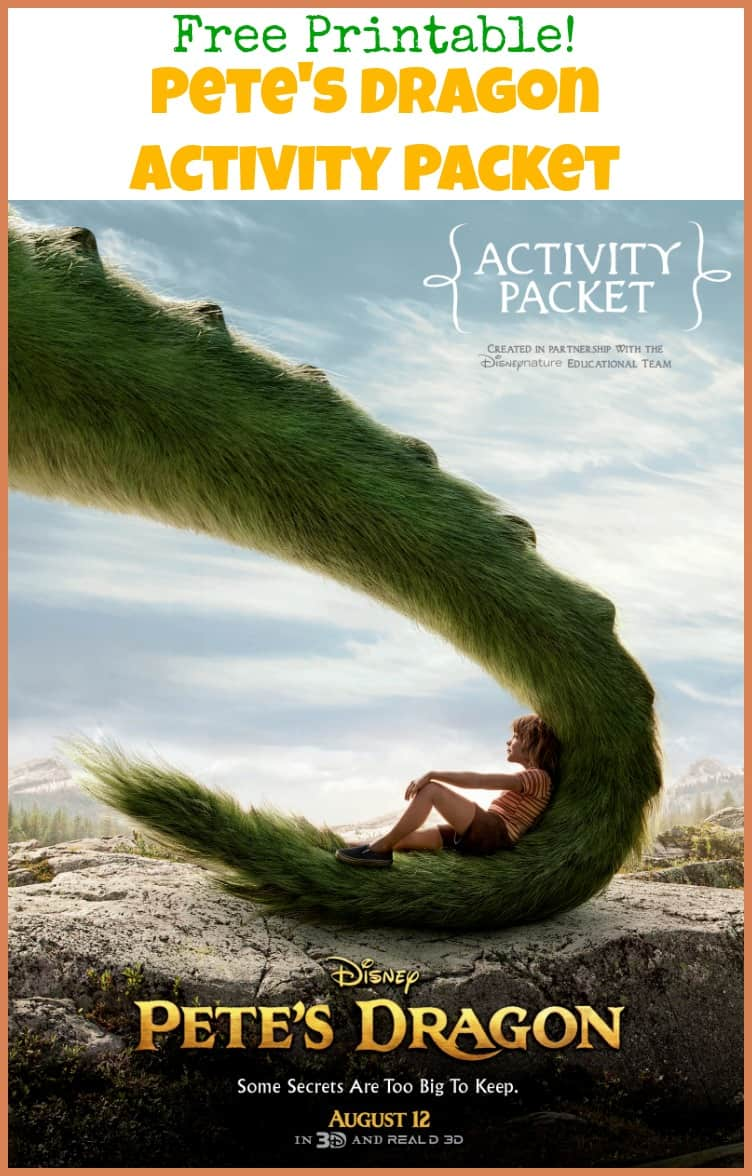 Keep the kids busy with the free Pete's Dragon Activity Packet. Disney's Pete's Dragon opens August 12, 2016.
