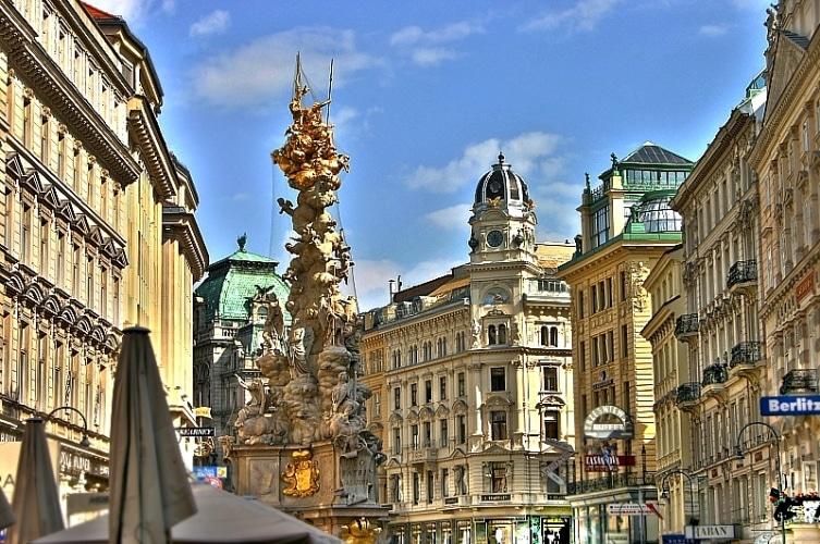 Вена улица грабен чумная колонна