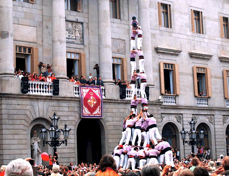 カタルーニャ名物、人間の塔