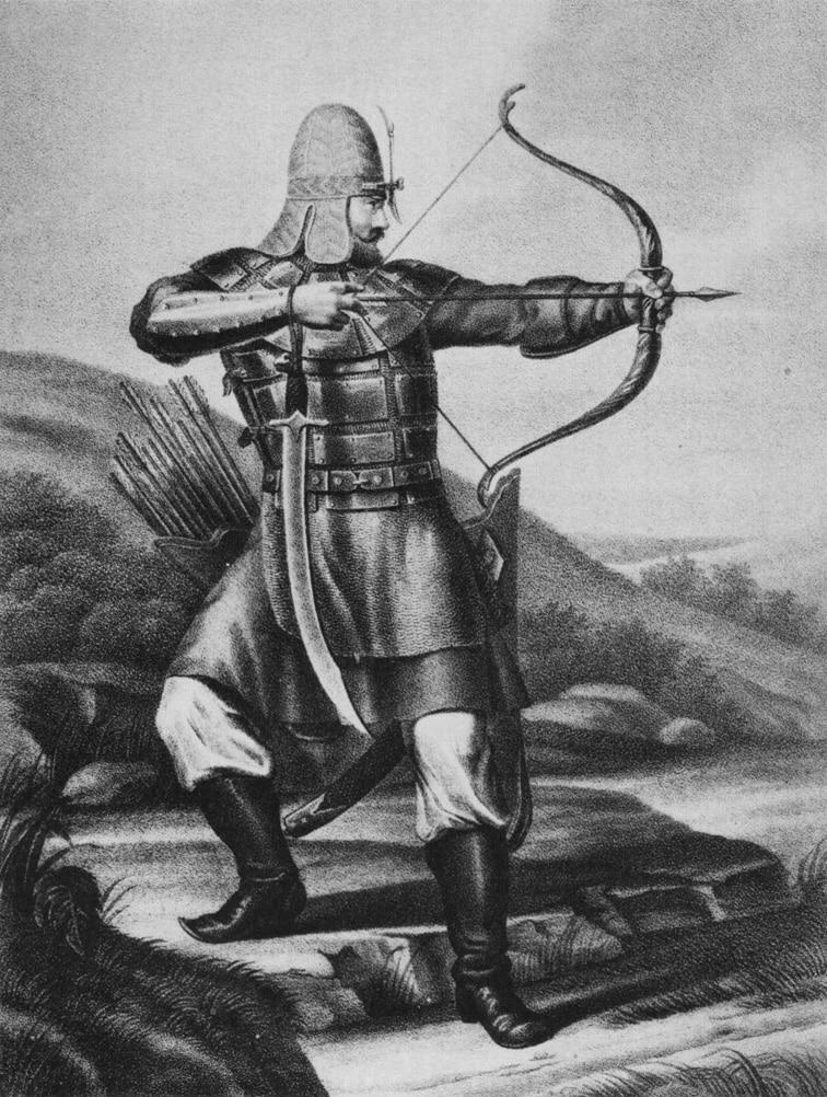 Такие сапоги носили ратники в Древней Руси