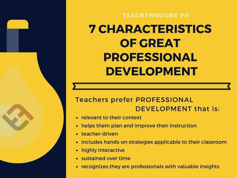 7 Characteristics of Great Professional Development